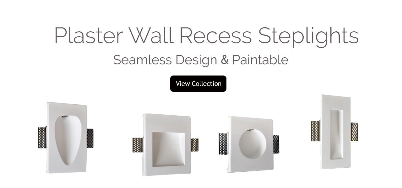 Plaster Wall Recess Steplights